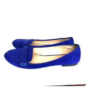 Zara Trafaluc Blue Ballet Flats Dress Shoes